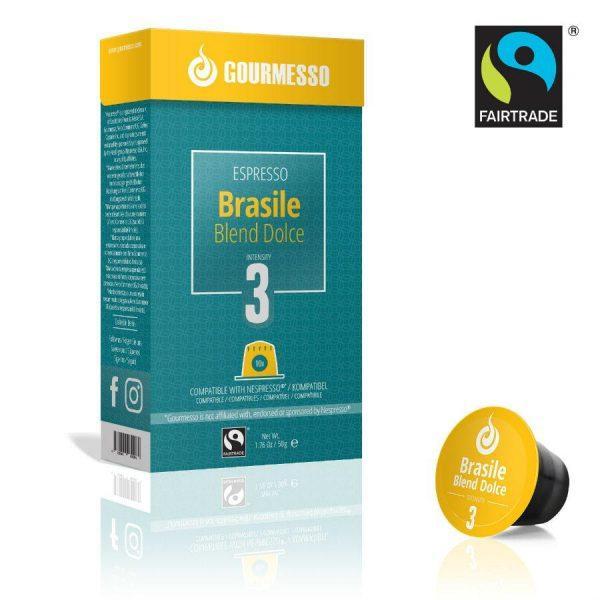 Capsule Gourmesso – Brasile Blend Dolce - compatibile Nespresso - 10 capsule