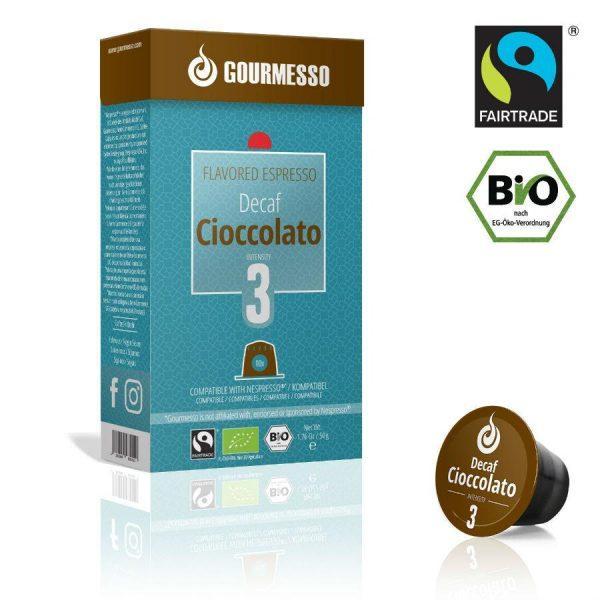 Capsule Gourmesso – Cioccolato Decaf - compatibile Nespresso - 10 capsule