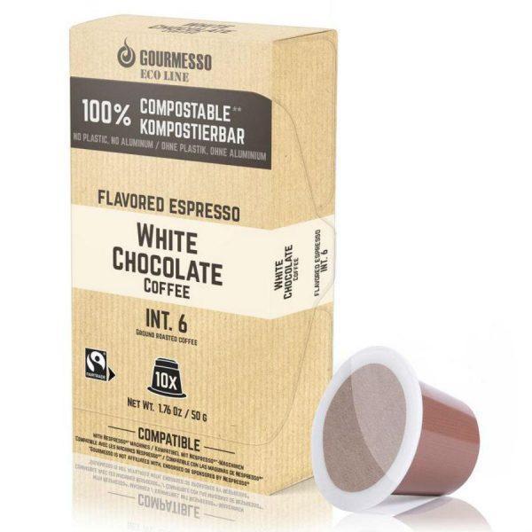 Capsule Gourmesso – Eco Line - White Chocolate – compatibile Nespresso – 10 capsule