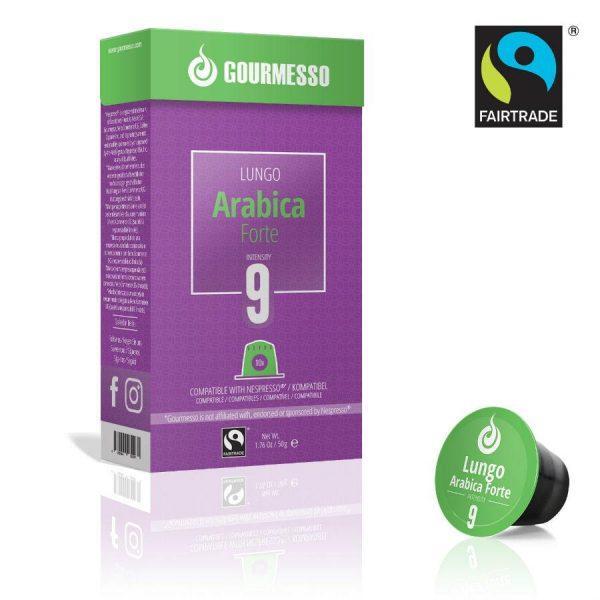 Capsule Gourmesso – Lungo Arabica Forte - compatibile Nespresso - 10 capsule