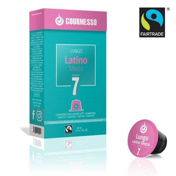 Capsule Gourmesso – Lungo Latino Mezzo - compatibile Nespresso - 10 capsule