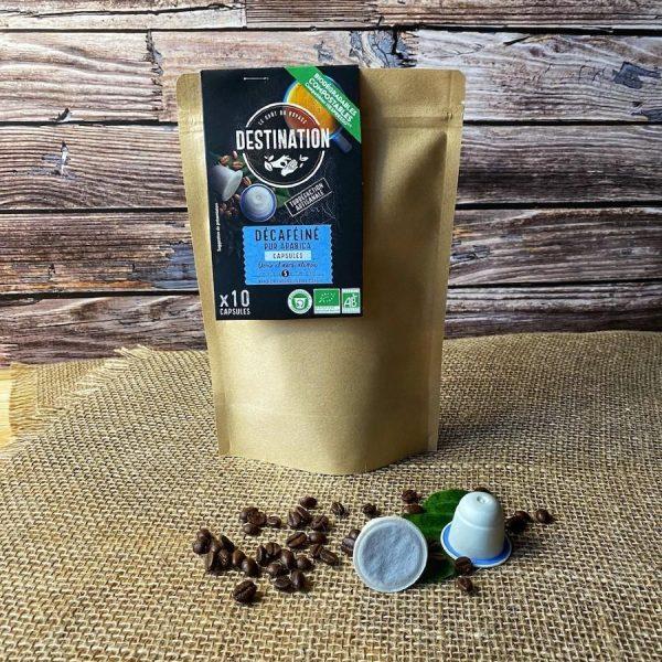 Capsule cafea Destination - Pur Arabica Decaf_compatibile Nespresso_10 capsule