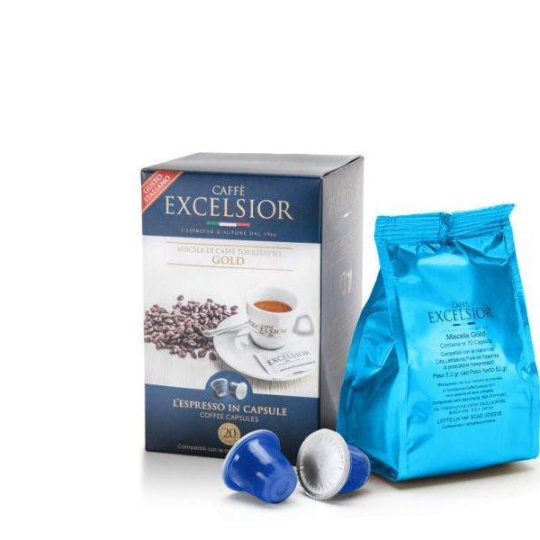Capsule cafea Excelsior– Gold - compatibile Nespresso - 20 capsule