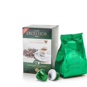 Capsule cafea Excelsior – Decaffeinato - compatibile Nespresso - 20 capsule