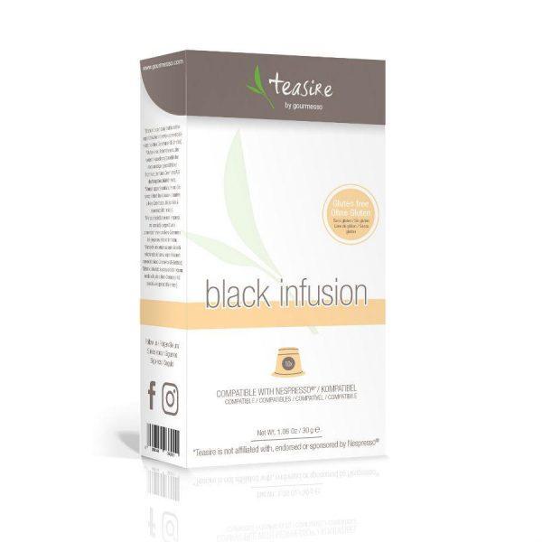 Capsulele Gourmesso - Ceai - Black Infusion - compatibile Nespresso - 10 capsule