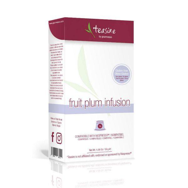 Capsulele Gourmesso - Ceai - Fruit Plum Infusion - compatibile Nespresso - 10 capsule