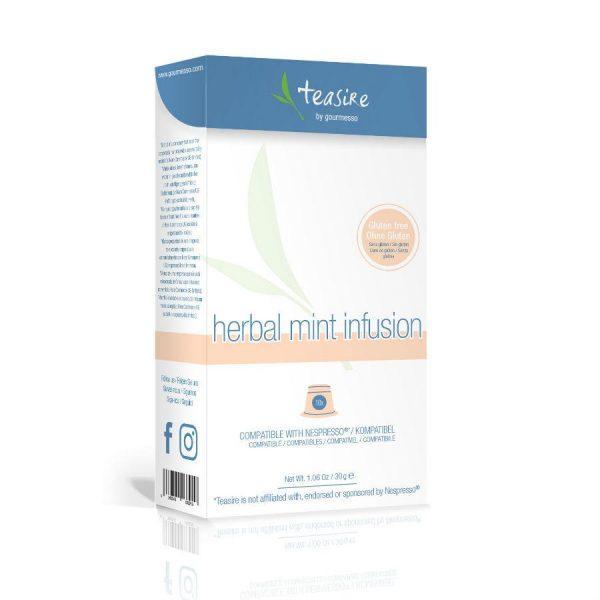Capsulele Gourmesso - Ceai - Herbal Mint Infusion - compatibile Nespresso - 10 capsule