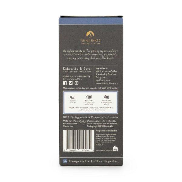 Capsule cafea de specialitate Sendero - Brazil Decaf, compatibile Nespresso, 10 capsule