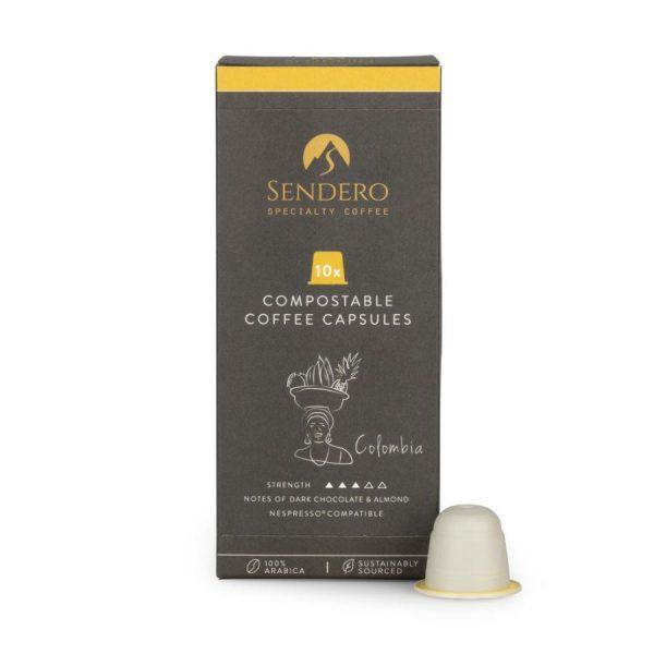 Capsule cafea de specialitate Sendero - Columbia - compatibile Nespresso - 10 capsule