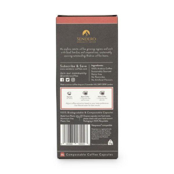 Capsule cafea de specialitate Sendero - Guatemala - compatibile Nespresso - 10 capsule - detalii