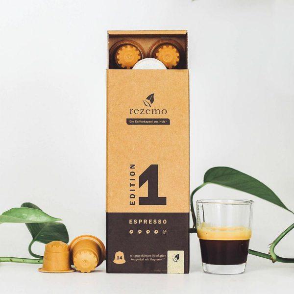 Capsule rezemo – Espresso Edition 1 - compatibile Nespresso - 14 capsule