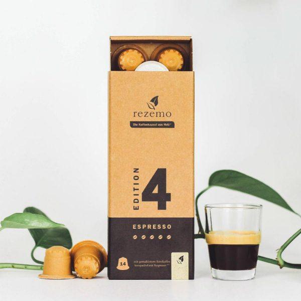 Capsule rezemo – Espresso Edition 4 - compatibile Nespresso - 14 capsule