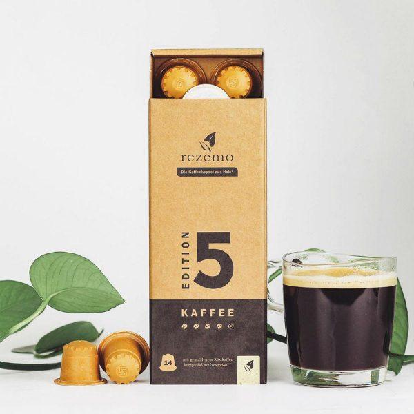 Capsule rezemo – Kaffee Edition 5 - compatibile Nespresso - 14 capsule