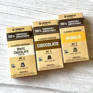 Pachet capsule cafea Gourmesso Flavoured Espressoț