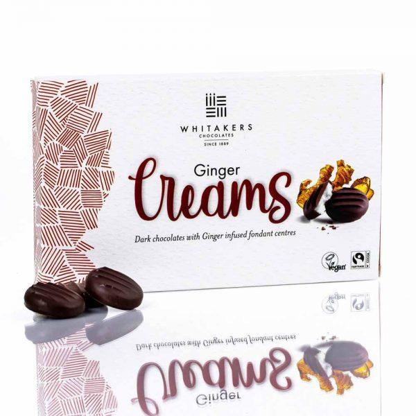 Cutie cu ciocolată Whitakers – Ciocolată neagră cu cremă fondant cu ghimbir