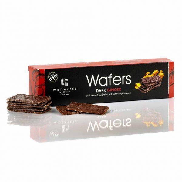 Cutie cu ciocolată Whitakers - Wafer Thins cu ghimbir