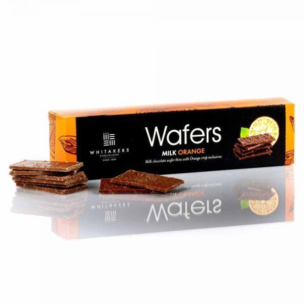 Cutie cu ciocolată Whitakers - Wafer Thins cu portocale