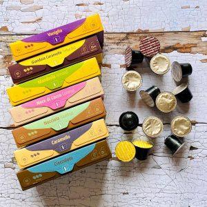 Pachet degustare capsule cafea Gourmesso Flavored Espresso_compatibile Nespresso_14 capsule