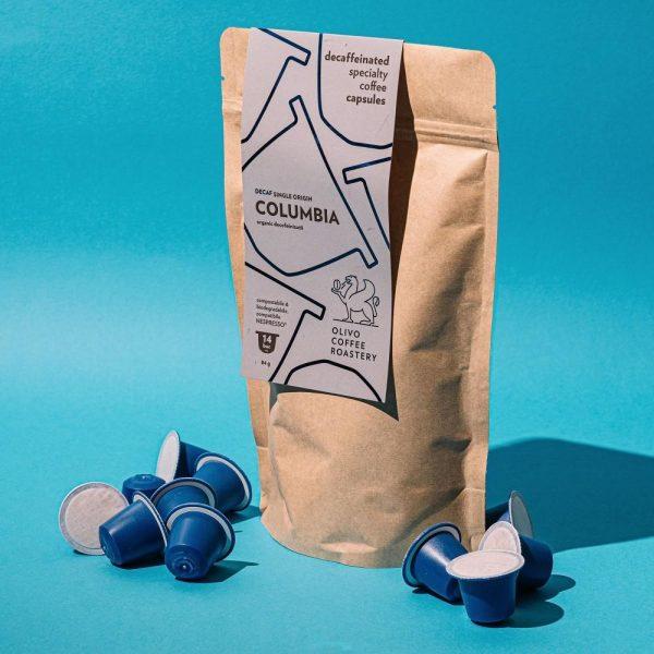 Capsule cafea de specialitate Olivo - Columbia decofeinizată