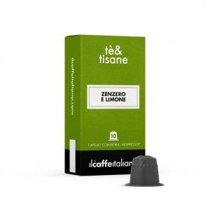 Capsule ll Caffe Italiano te&tisane Zenzero e Limone_compatibile Nespresso_10 capsule