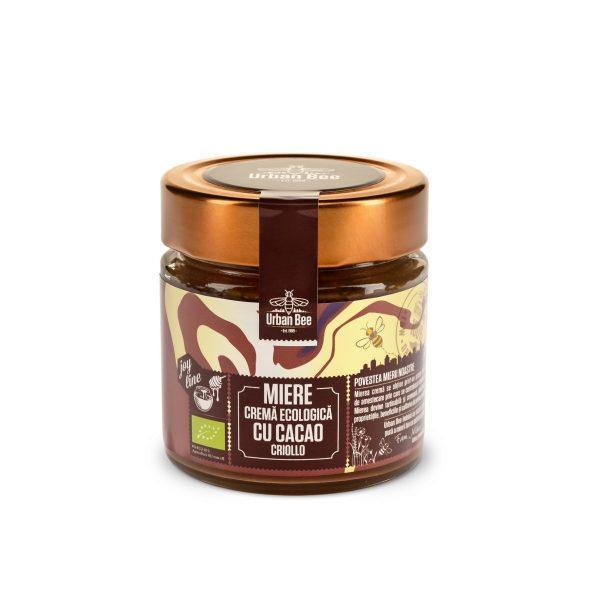 Miere cremă ecologică cu cacao Criollo Urban Bee