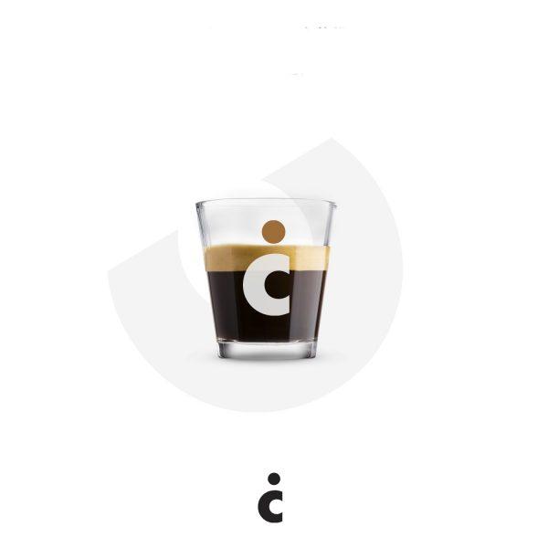 Set 6 pahare din sticlă pentru espresso Il Caffe Italiano