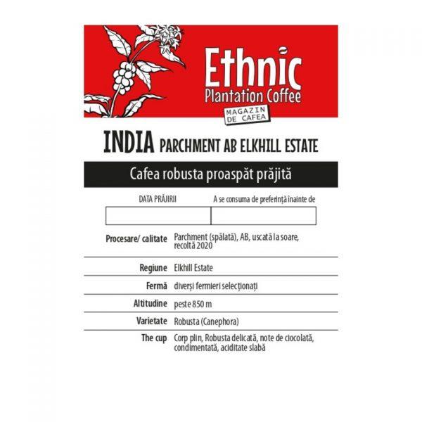 Cafea de specialitate_Ethnic Plantation Coffee_India Elkhill Estate_robusta